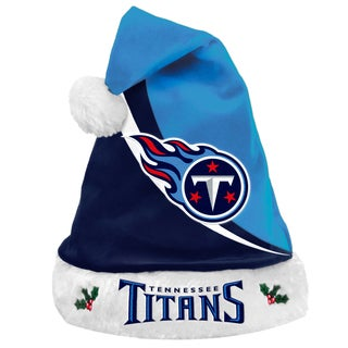 Forever Collectibles NFL Tennessee Titans Polyester Swoop Santa Hat