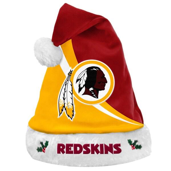 Forever Collectibles NFL Washington Redskins Polyester Swoop Santa Hat