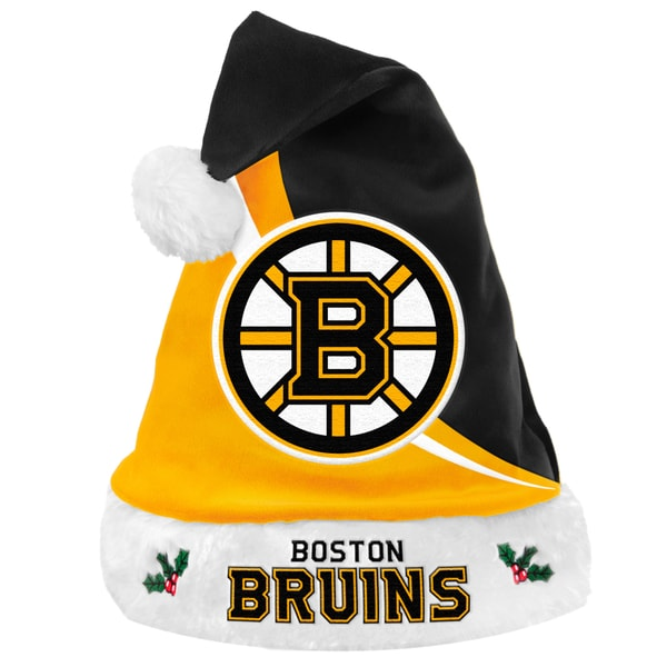 NHL Boston Bruins Polyester Swoop Santa Hat