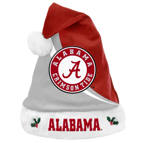 Forever Collectibles NCAA Alabama Crimson Tide Polyester Swoop Santa Hat