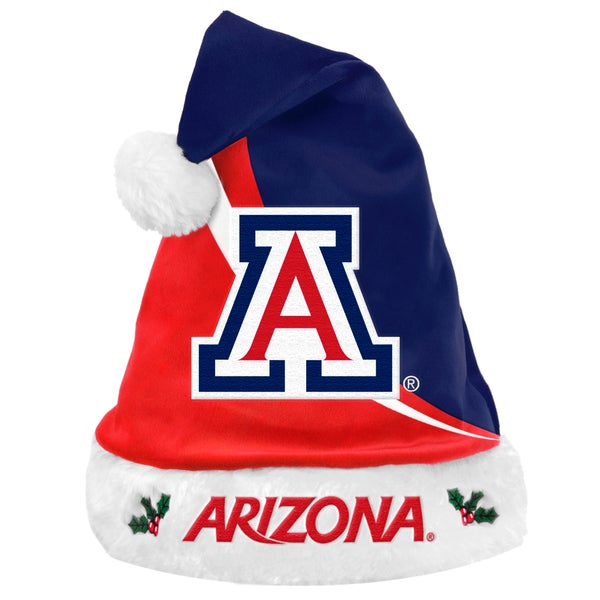 NCAA Arizona Wildcats Polyester Swoop Santa Hat