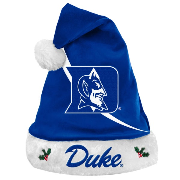 Forever Collectibles NCAA Duke Blue Devils Polyester Swoop Santa Hat