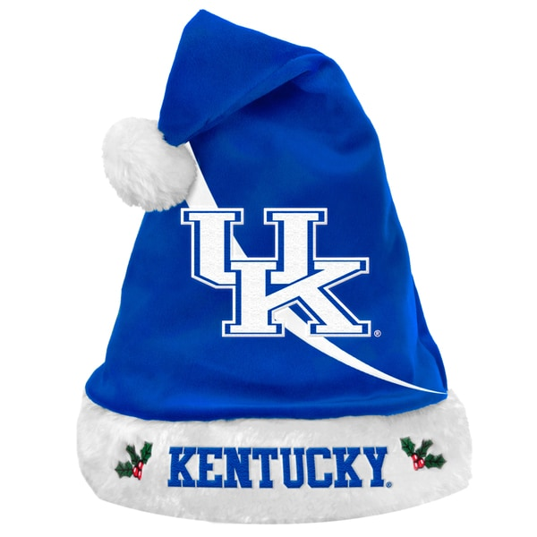 Forever Collectibles NCAA Kentucky Wildcats Polyester Swoop Santa Hat