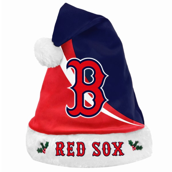 MLB Boston Red Sox Polyester Swoop Santa Hat