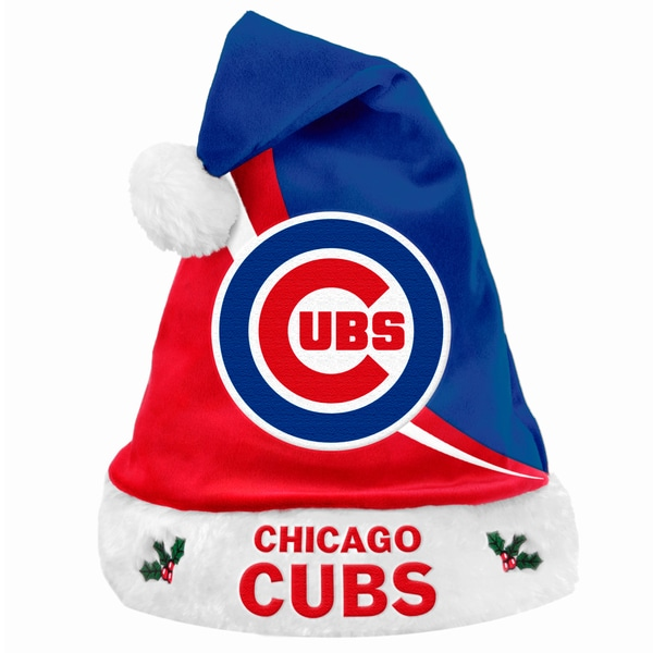 Forever Collectibles MLB Chicago Cubs Polyester Swoop Santa Hat