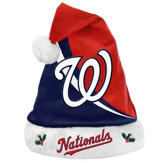 Forever Collectibles MLB Washington Nationals Polyester Swoop Santa Hat