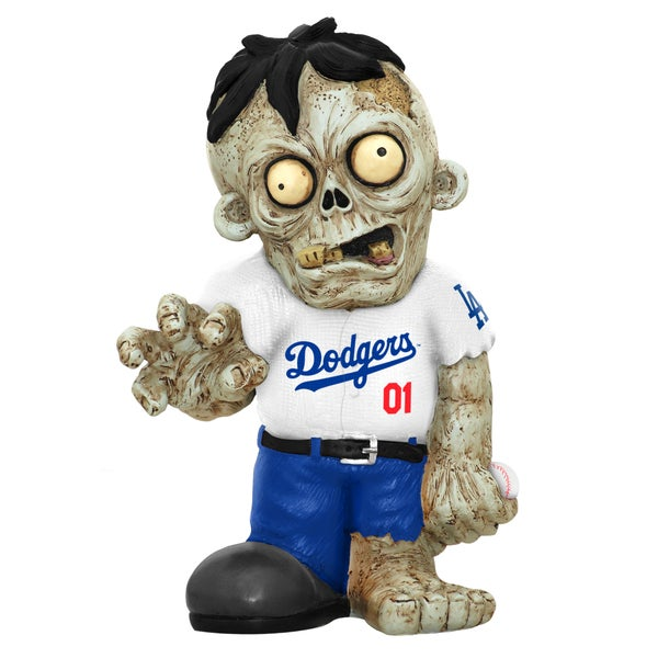 Forever Collectibles MLB Los Angeles Dodgers 9-inch Zombie Figurine
