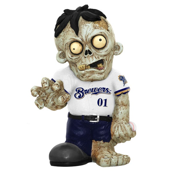 Forever Collectibles MLB Milwaukee Brewers 9-inch Zombie Figurine