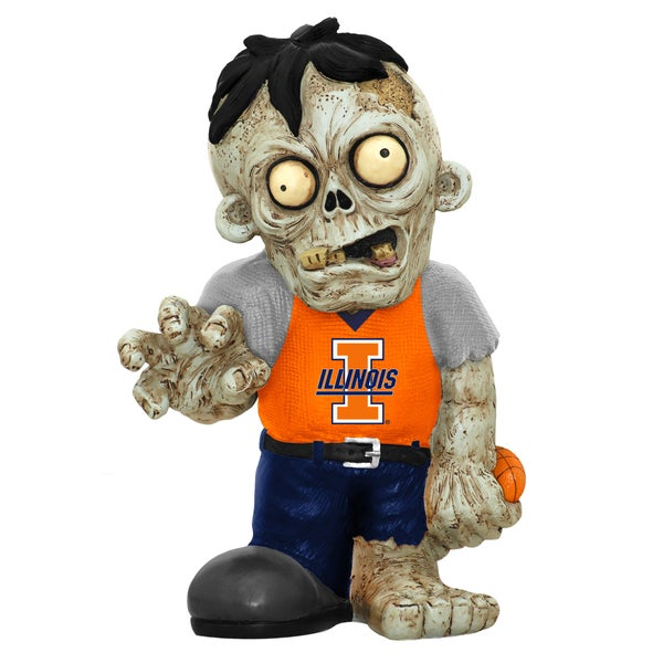 Forever Collectibles NCAA Illinois Fighting Illini 9-inch Zombie Figurine