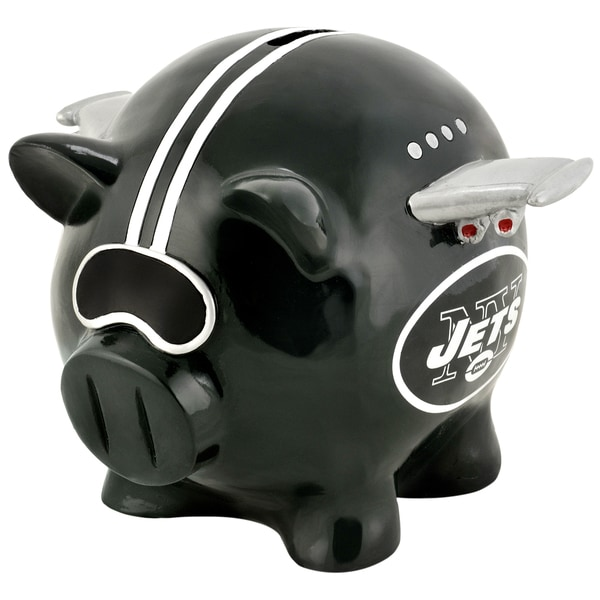 Forever Collectibles NFL New York Jets Thematic Resin Piggy Bank