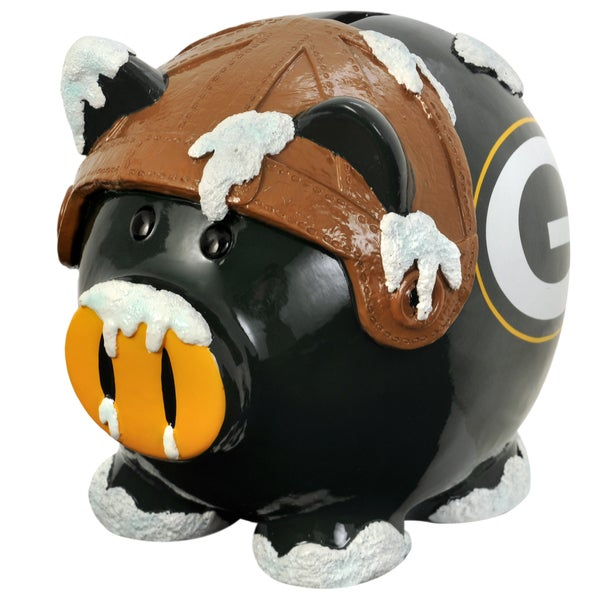 Forever Collectibles NFL Green Bay Packers Thematic Resin Piggy Bank