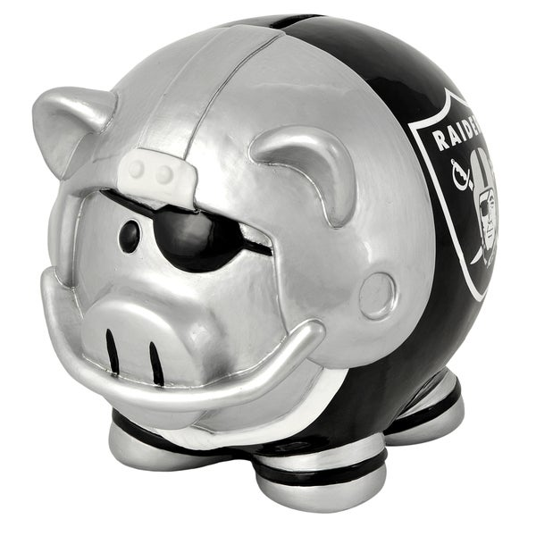 NFL Oakland Raiders Thematic Resin Piggy Bank