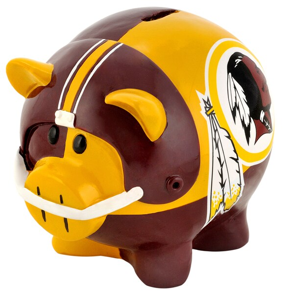 Forever Collectibles NFL Washington Redskins Thematic Resin Piggy Bank