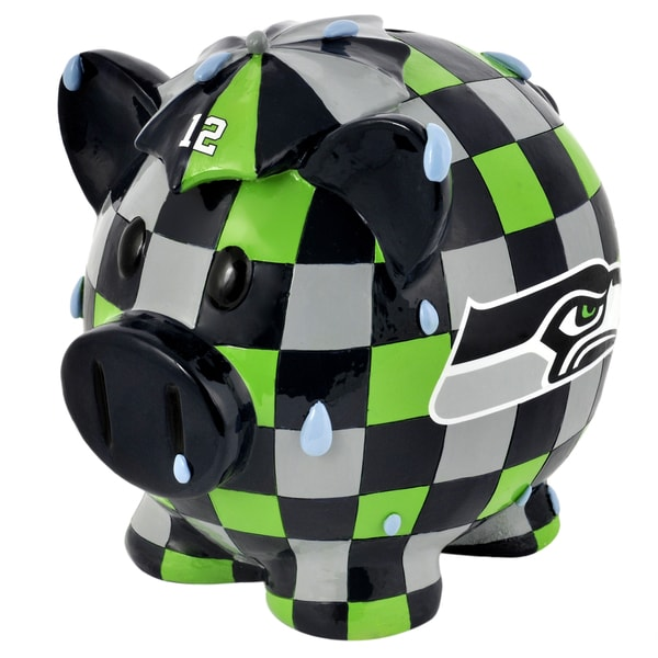 NFL Seattle Seahawks Thematic Resin Piggy Bank