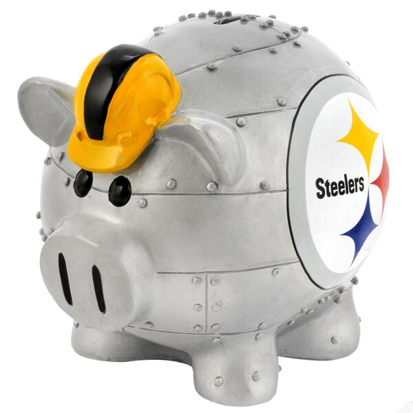 Forever Collectibles NFL Pittsburgh Steelers Thematic Resin Piggy Bank