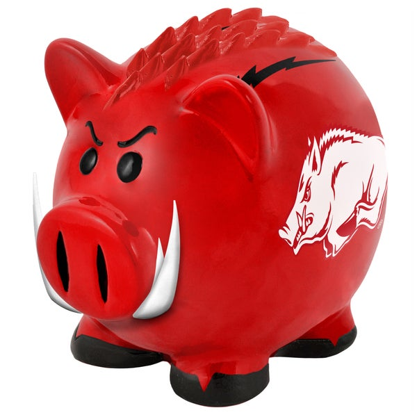 NCAA Arkansas Razorbacks Thematic Resin Piggy Bank