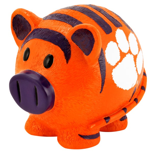 NCAA Clemson Tigers Thematic Resin Piggy Bank