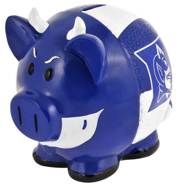Forever Collectibles NCAA Duke Blue Devils Thematic Resin Piggy Bank