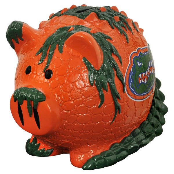 Forever Collectibles NCAA Florida Gators Thematic Resin Piggy Bank