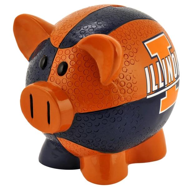 NCAA Illinois Fighting Illini Thematic Resin Piggy Bank
