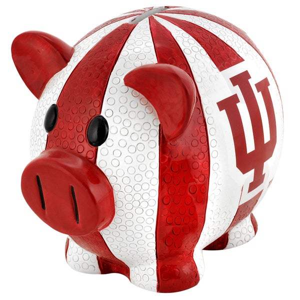 Forever Collectibles NCAA Indiana Hoosiers Thematic Resin Piggy Bank