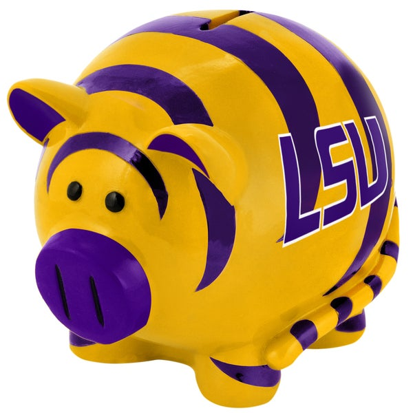 Forever Collectibles NCAA LSU Tigers Thematic Resin Piggy Bank