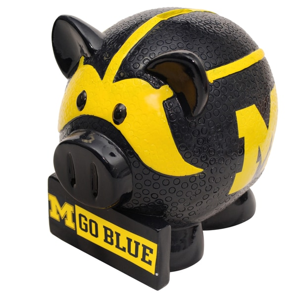 NCAA Michigan Wolverines Thematic Resin Piggy Bank