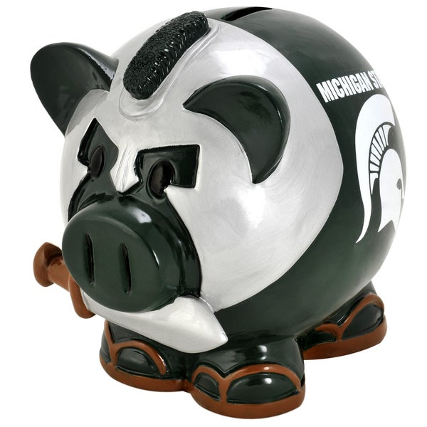 NCAA Michigan State Spartans Thematic Resin Piggy Bank