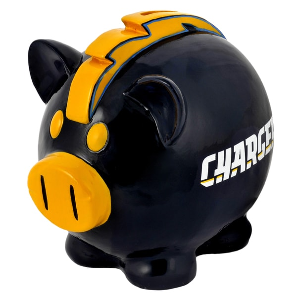 NFL San Diego Chargers Thematic Resin Piggy Bank