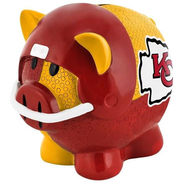 NFL Kansas City Chiefs Thematic Resin Piggy Bank