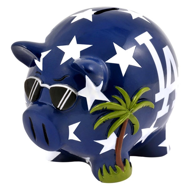 Forever Collectibles MLB Los Angeles Dodgers Thematic Resin Piggy Bank
