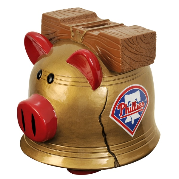 Forever Collectibles MLB Philadelphia Phillies Thematic Resin Piggy Bank