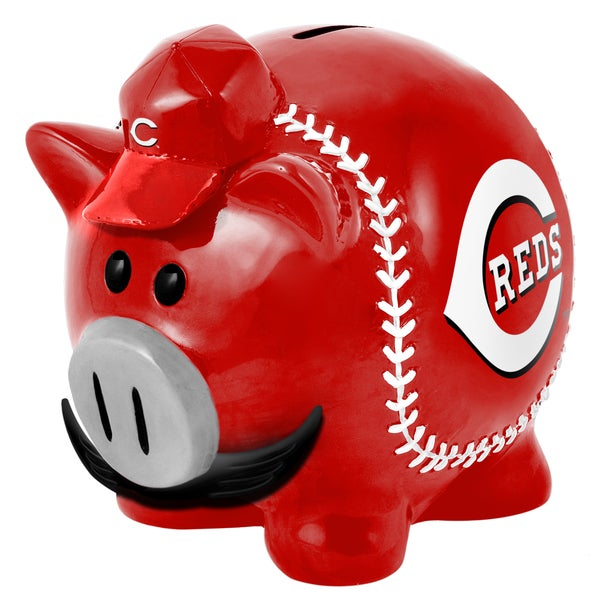 Forever Collectibles MLB Cincinnati Reds Thematic Resin Piggy Bank