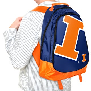 Forever Collectibles NCAA Illinois Fighting Illini 19-inch Structured Backpack