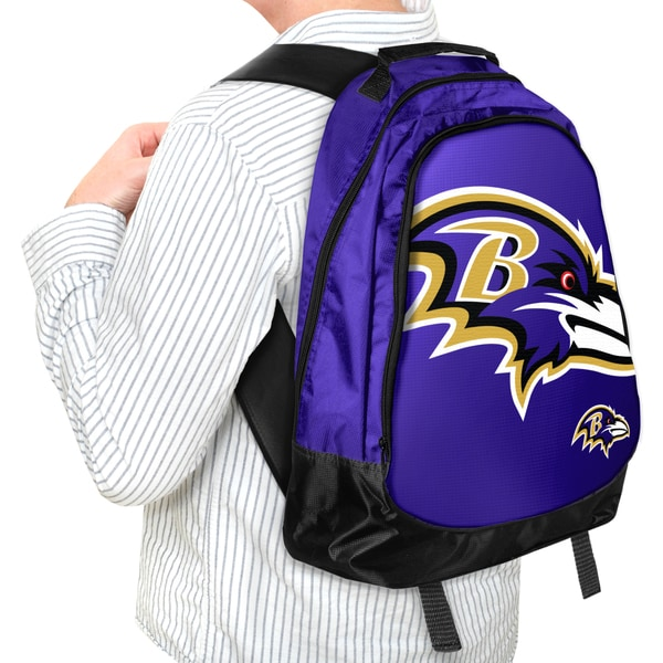 Forever Collectibles NFL Baltimore Ravens 19-inch Structured Backpack
