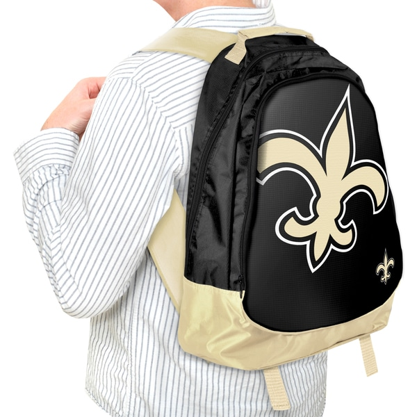 Forever Collectibles NFL New Orleans Saints 19-inch Structured Backpack