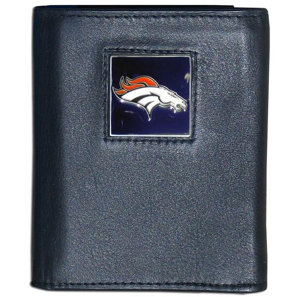 NFL Denver Broncos Executive Leather Tri-fold Wallet
