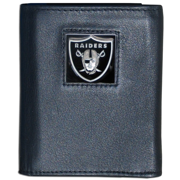 NFL Oakland Raiders Executive Leather Tri-fold Wallet