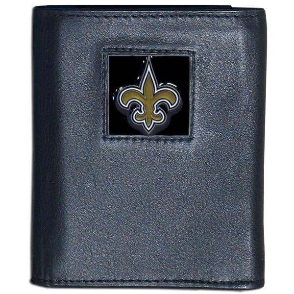 NFL New Orleans Saints Leather Tri-fold Wallet