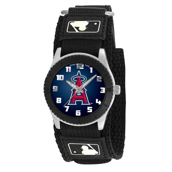 Game Time MLB Los Angeles Angels Black Rookie Series Watch