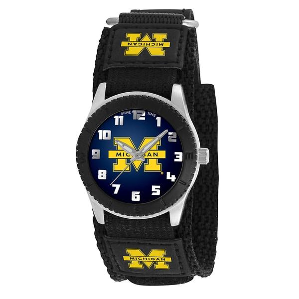 Game Time NCAA Michigan Wolverines Black Rookie Series Watch