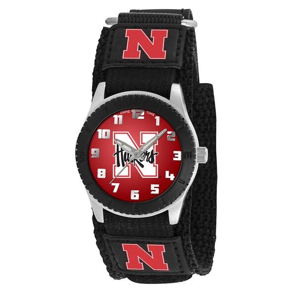 Game Time NCAA Nebraska Cornhuskers Black Rookie Series Watch