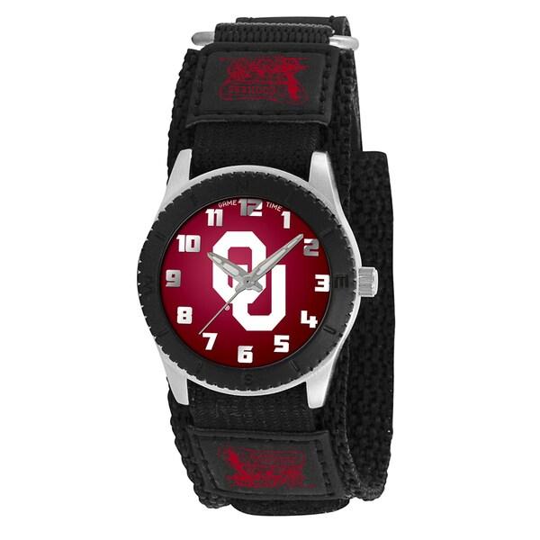 Game Time NCAA Oklahoma Sooners Black Rookie Series Watch