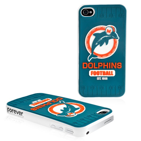 Forever Collectibles NFL Miami Dolphins iPhone 4/ 4S Hard Protective Phone Case