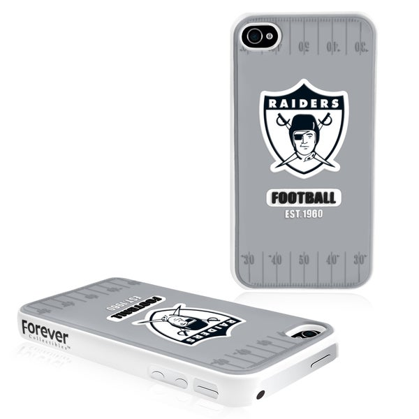 Forever Collectibles NFL Oakland Raiders iPhone 4/ 4S Hard Protective Phone Case