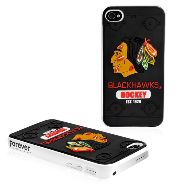 Forever Collectibles NHL Chicago Blackhawks 4/ 4S Hard Protective Phone Case