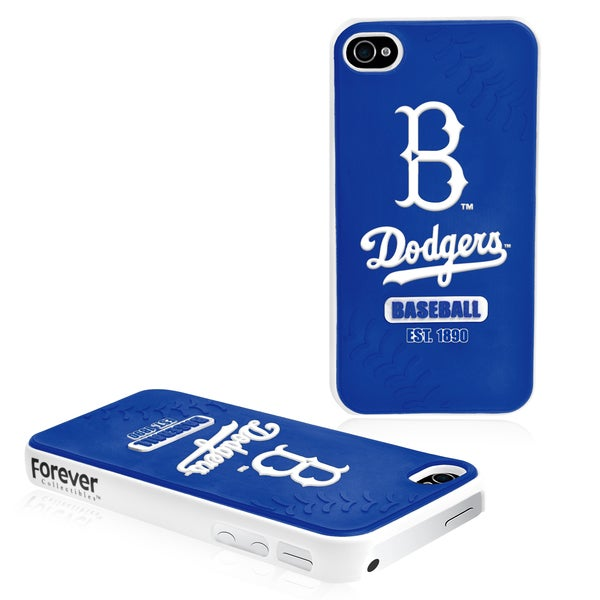 Forever Collectibles MLB Los Angeles Dodgers iPhone 4/ 4S Hard Protective Phone Case