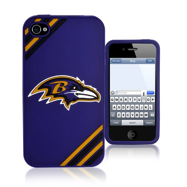 NFL Baltimore Ravens 4/ 4S Silicone Phone Case