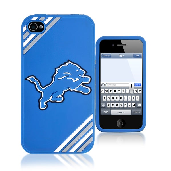 Forever Collectibles NFL Detroit Lions iPhone 4/4S Silicone Phone Case
