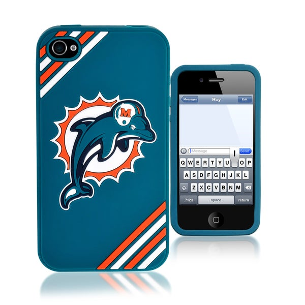Forever Collectibles NFL Miami Dolphins iPhone 4/4S Silicone Phone Case